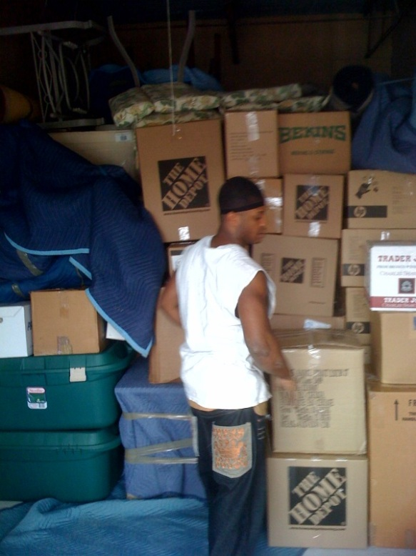 Ricky Packing a Storage Unit